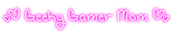 Geeky Gamer Mom Logo