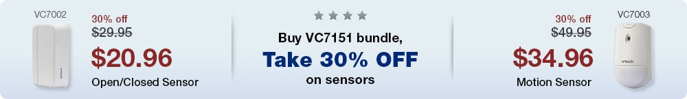 Buy a VC7151 bundle, Get 30% off on additional selected sensors.