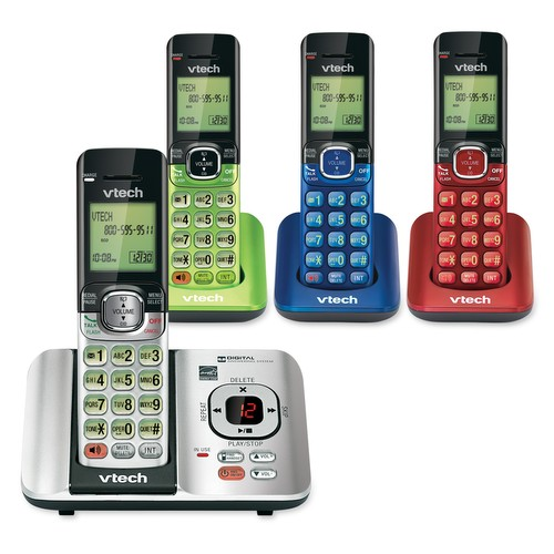 Vtech Colored Phones Keep Things Festive Vtech 174 Cordless