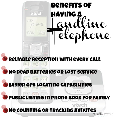 Benefits of a land line telephone