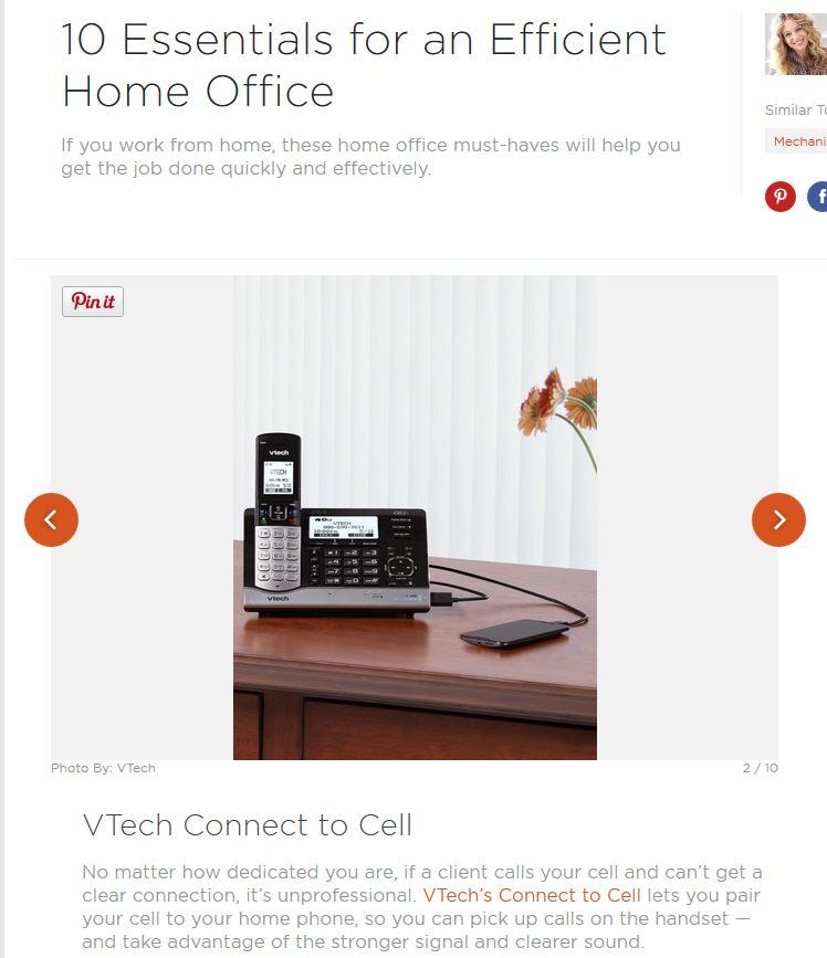 10 Essentials for an Efficient Home Office | VTech® Cordless Phones