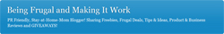 Being Frugal and Making It Work Logo