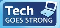 Tech Goes Strong Logo