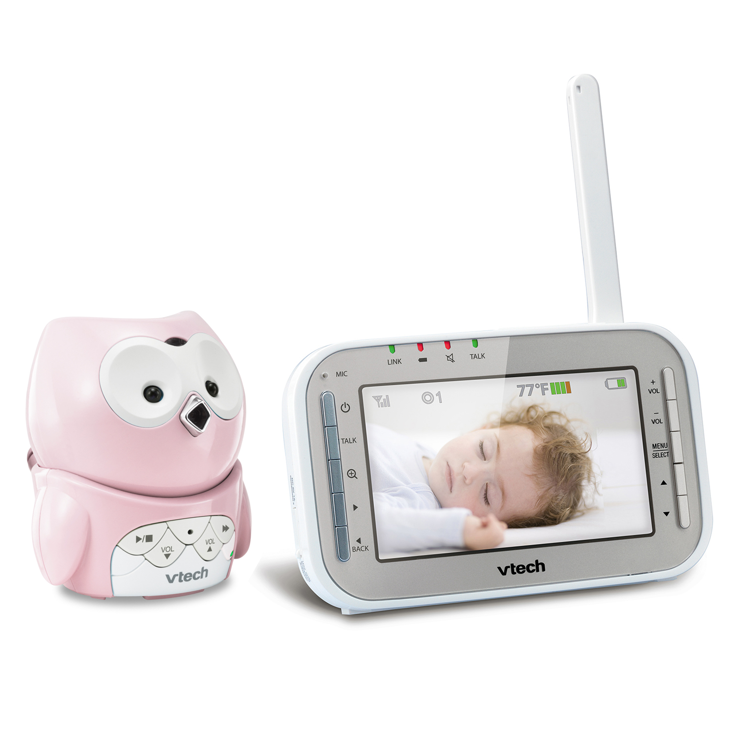 Baby Monitor 2 Camera Owl Full Color Video Monitor With