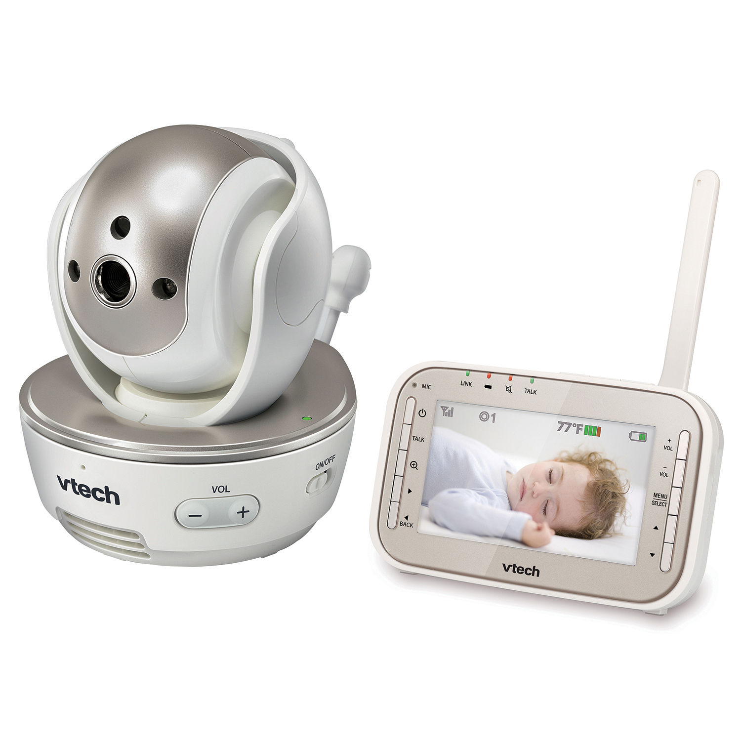 baby monitor video baby monitor with night vision pan tilt zoom and two wa. Black Bedroom Furniture Sets. Home Design Ideas