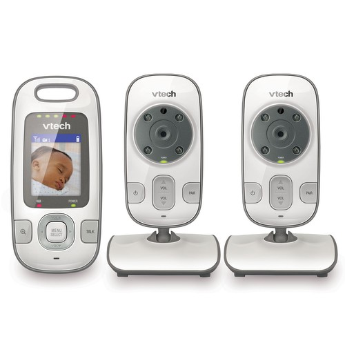 baby monitor video baby monitor with two cameras and night vision vm312 2. Black Bedroom Furniture Sets. Home Design Ideas