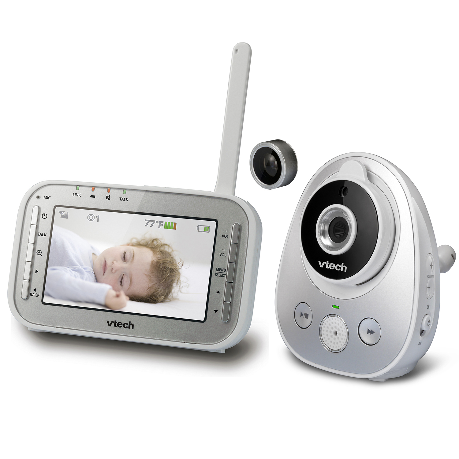 baby monitor video monitor with wide angle lens and standard lens vm342 vtech cordless phones. Black Bedroom Furniture Sets. Home Design Ideas