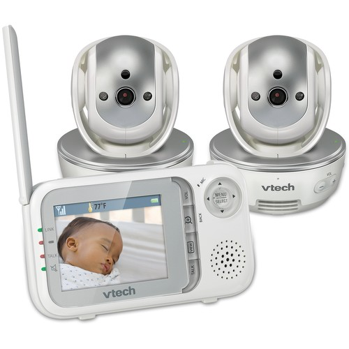 baby monitor 2 camera video monitor with wide angle lens and standard lens vm342 2 vtech. Black Bedroom Furniture Sets. Home Design Ideas