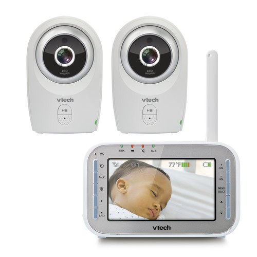 baby monitor video baby monitor with two cameras and night vision vm312 2 vtech cordless. Black Bedroom Furniture Sets. Home Design Ideas