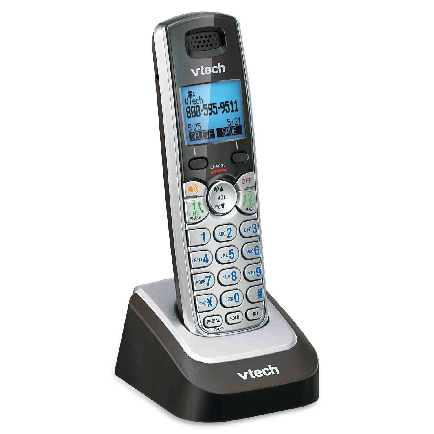 2 line cordless phone with 3 handsets