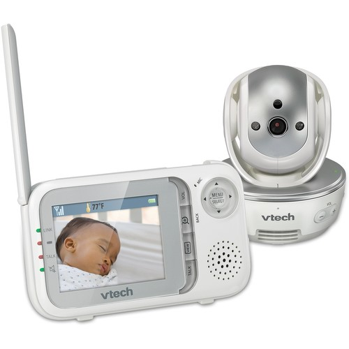 Two Way Audio Monitor : Baby monitor video with night vision pan