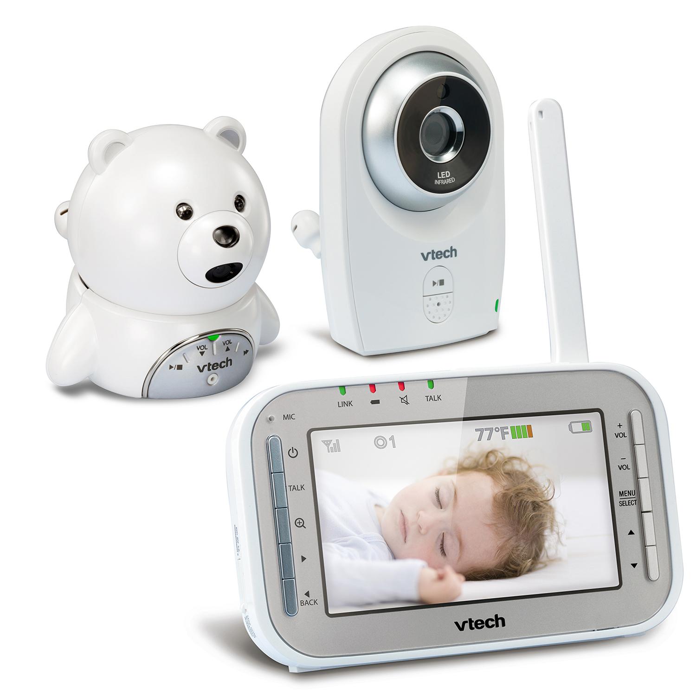 baby monitor 2 camera bear full color video monitor vm341 216 vtech cordless phones. Black Bedroom Furniture Sets. Home Design Ideas