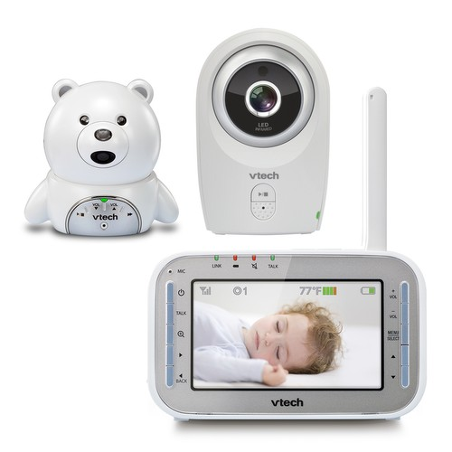 baby monitor safe sound bear 2 camera full color video monitor vm341 216 vtech cordless. Black Bedroom Furniture Sets. Home Design Ideas