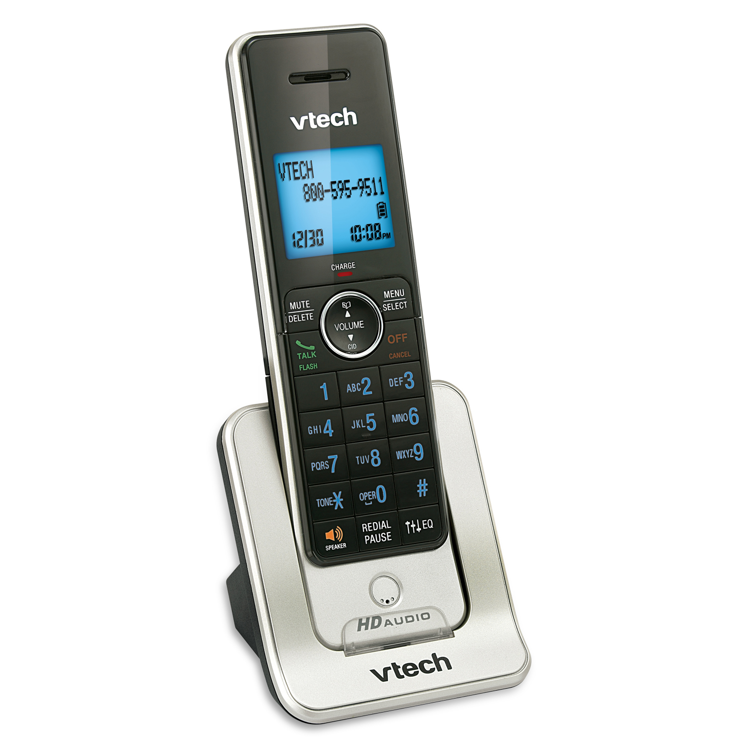 vtech 3-handset dect 6.0 cordless phone with answering machine (ls6425-3)