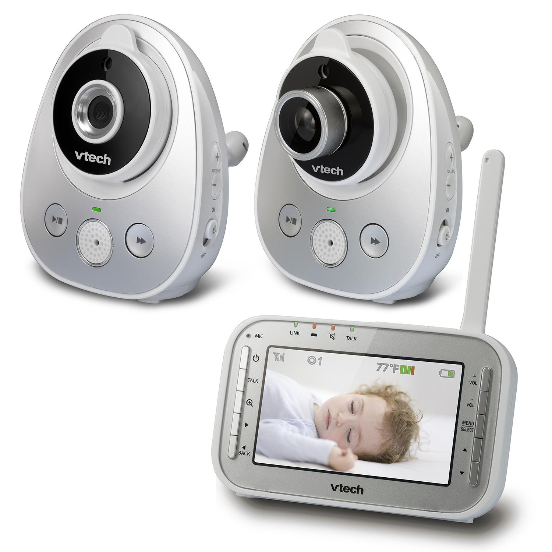 baby monitor safe sound pan tilt full color video monitor with t. Black Bedroom Furniture Sets. Home Design Ideas