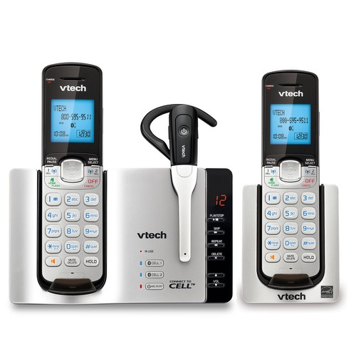 v-tech cordless phone with 3 handsets