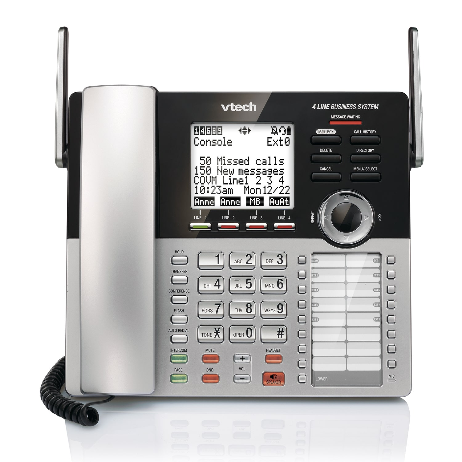 vtech phone how to get messages