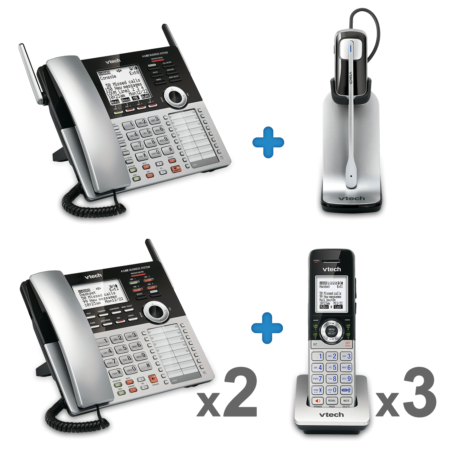 4 Line Small Business Phone System Office Bundle 2 | SBS OB2 | VTech®  Cordless Phones