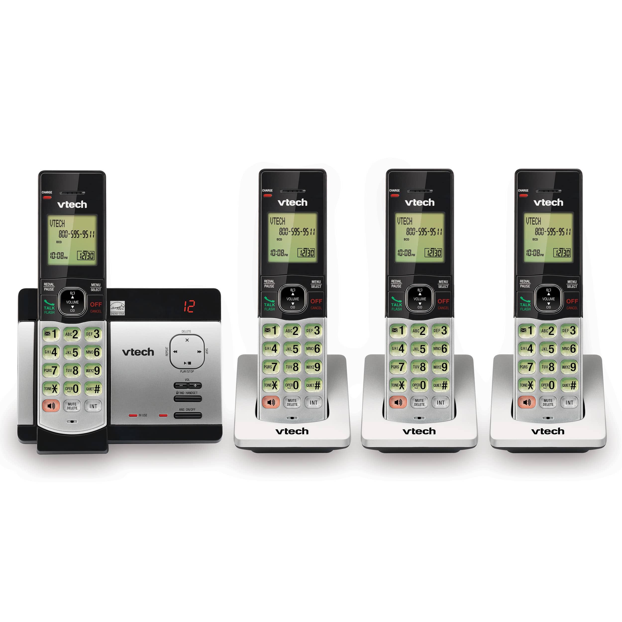 4 handset cordless phone with digital answering system caller id rh vtechphones com vtech model cs6529-3 manual vtech cs6529-3 manual