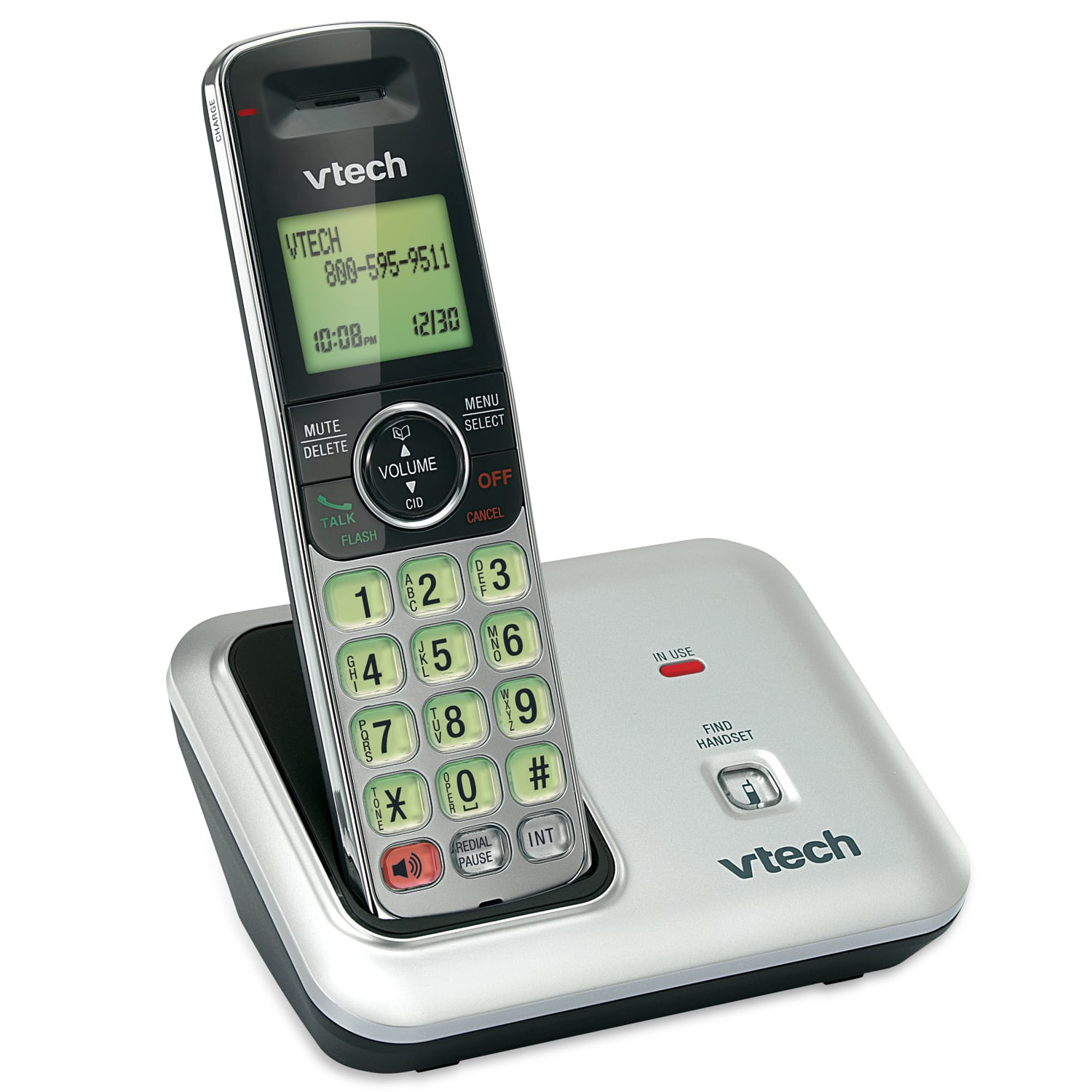 cordless phone with caller id call waiting cs6419 vtech cordless phones. Black Bedroom Furniture Sets. Home Design Ideas