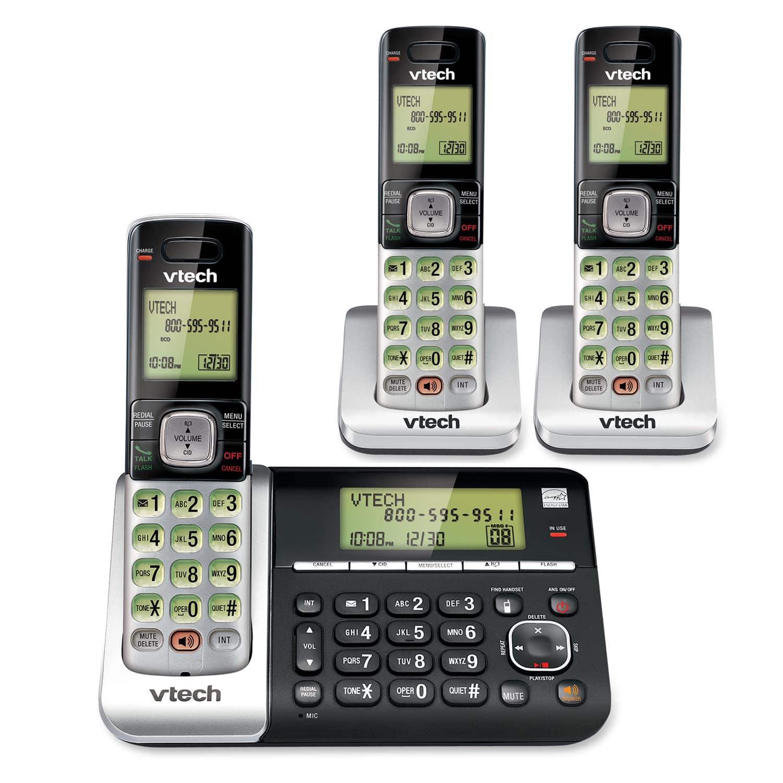 3 handset answering system with dual caller id call waiting cs6759 rh vtechphones com vtech phone manual cs6529-3 vtech model cs6529-3 manual
