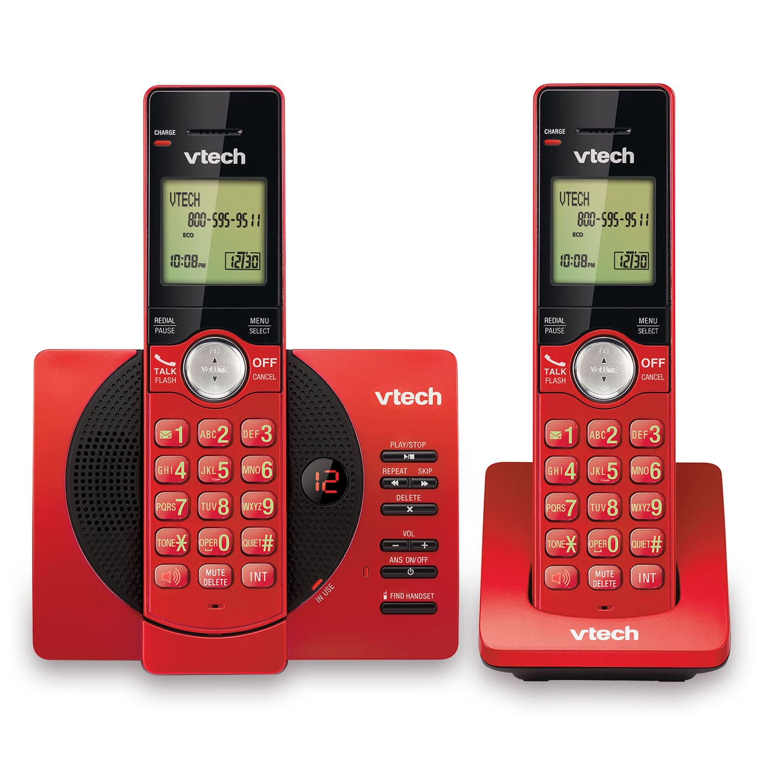 2 handset cordless answering system with caller id call waiting cs6929 26 vtech cordless phones. Black Bedroom Furniture Sets. Home Design Ideas