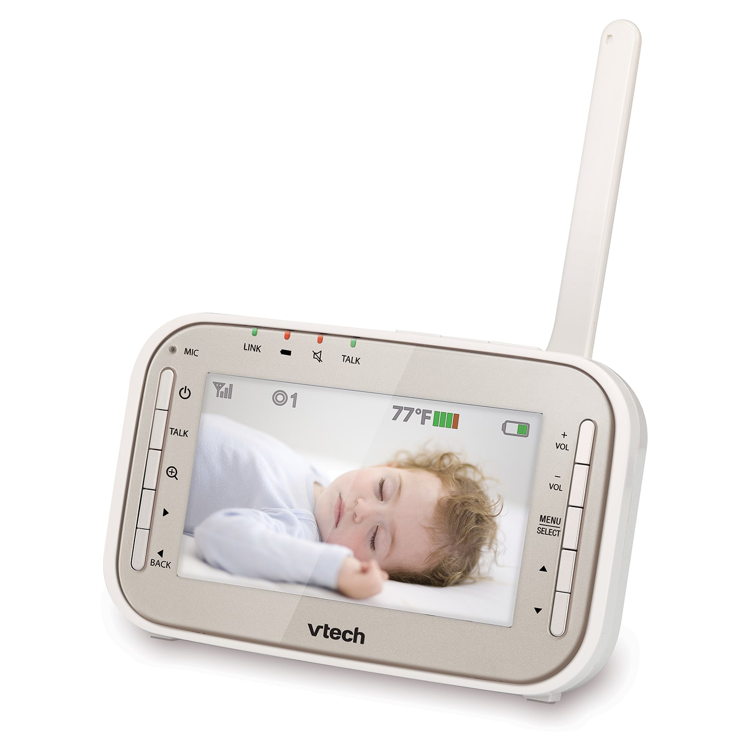 baby monitor video baby monitor with two cameras night vision pan tilt zo. Black Bedroom Furniture Sets. Home Design Ideas
