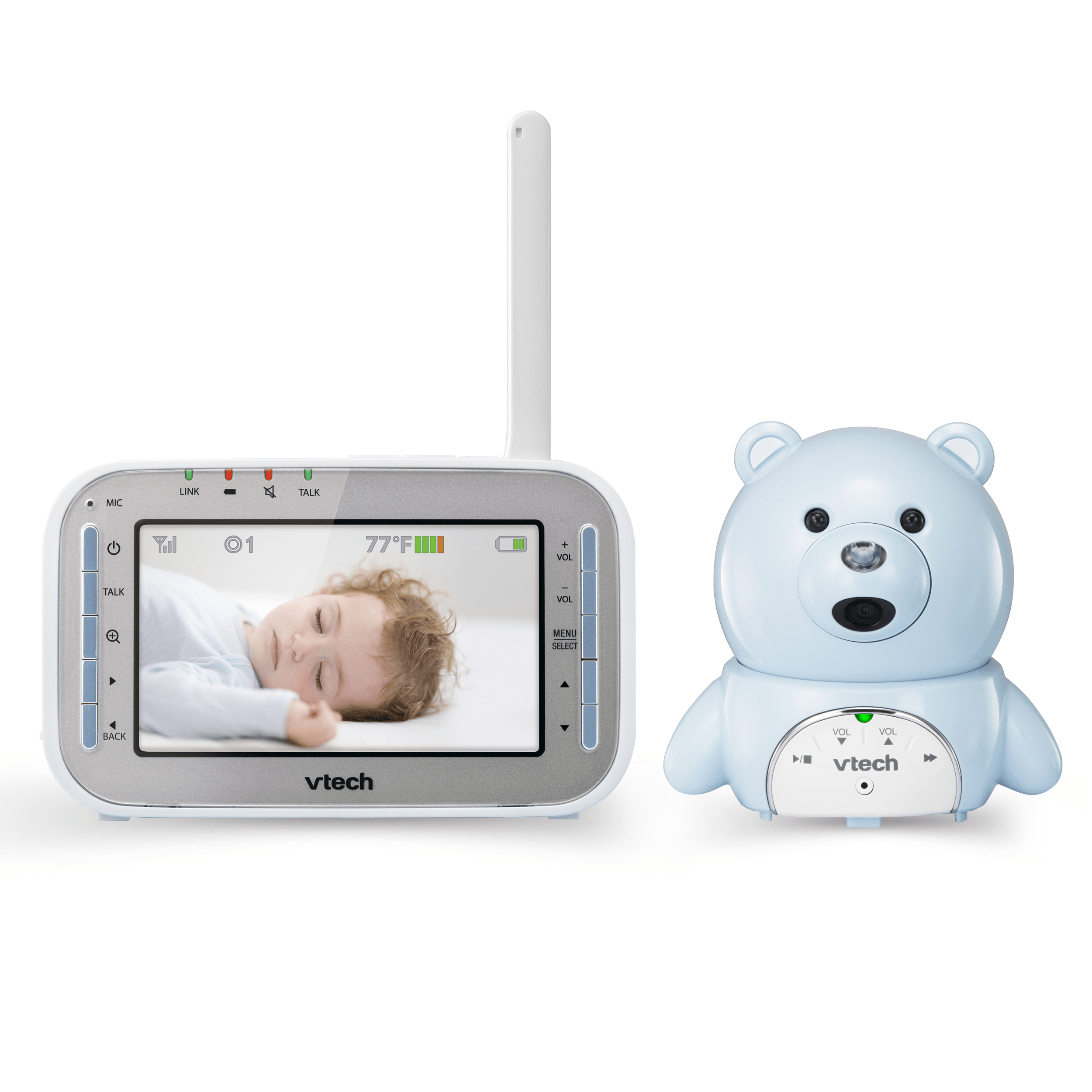 baby monitor bear expandable digital video baby monitor with automatic night vision vm346 15. Black Bedroom Furniture Sets. Home Design Ideas