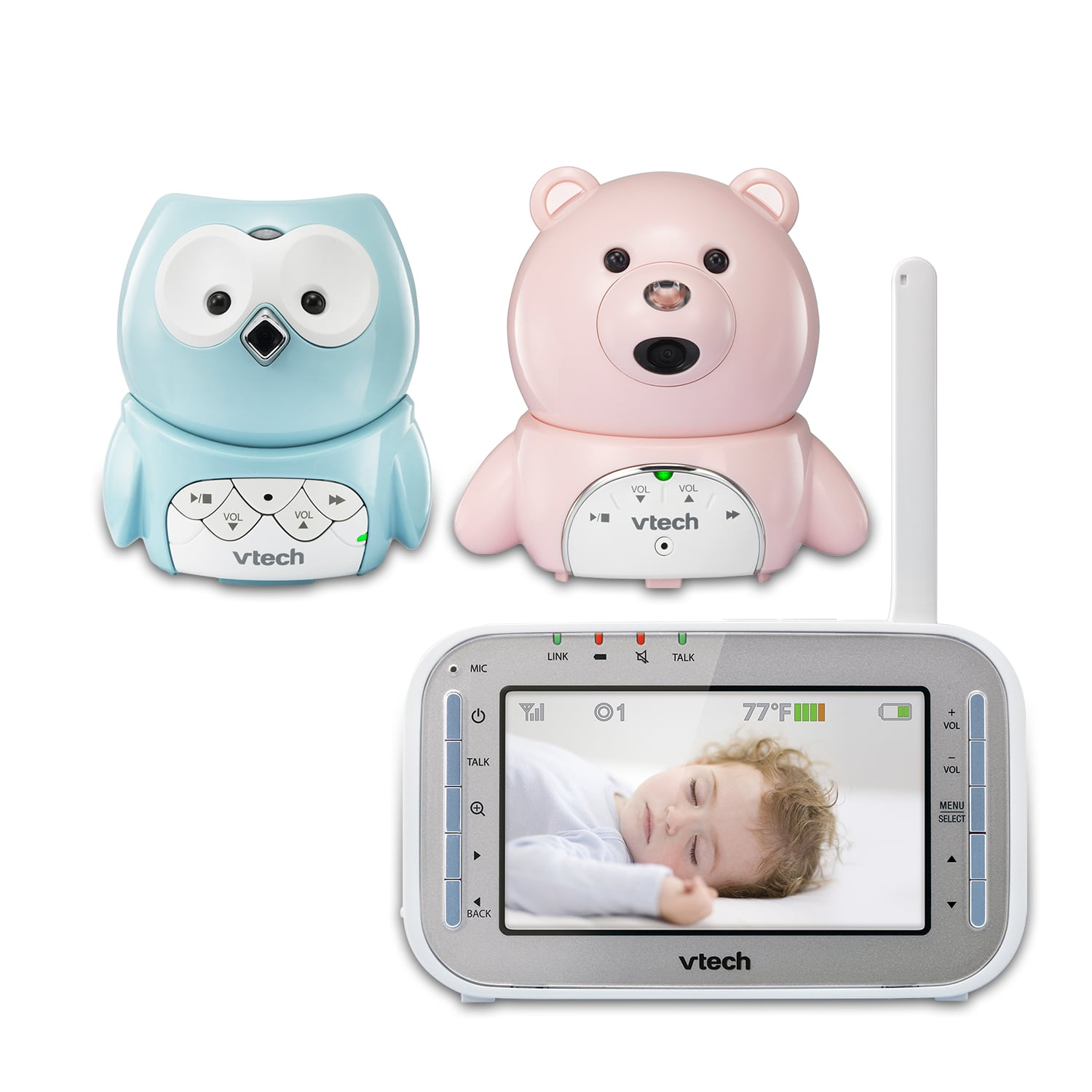 2 Camera Bear And Owl Expandable Digital Video Baby