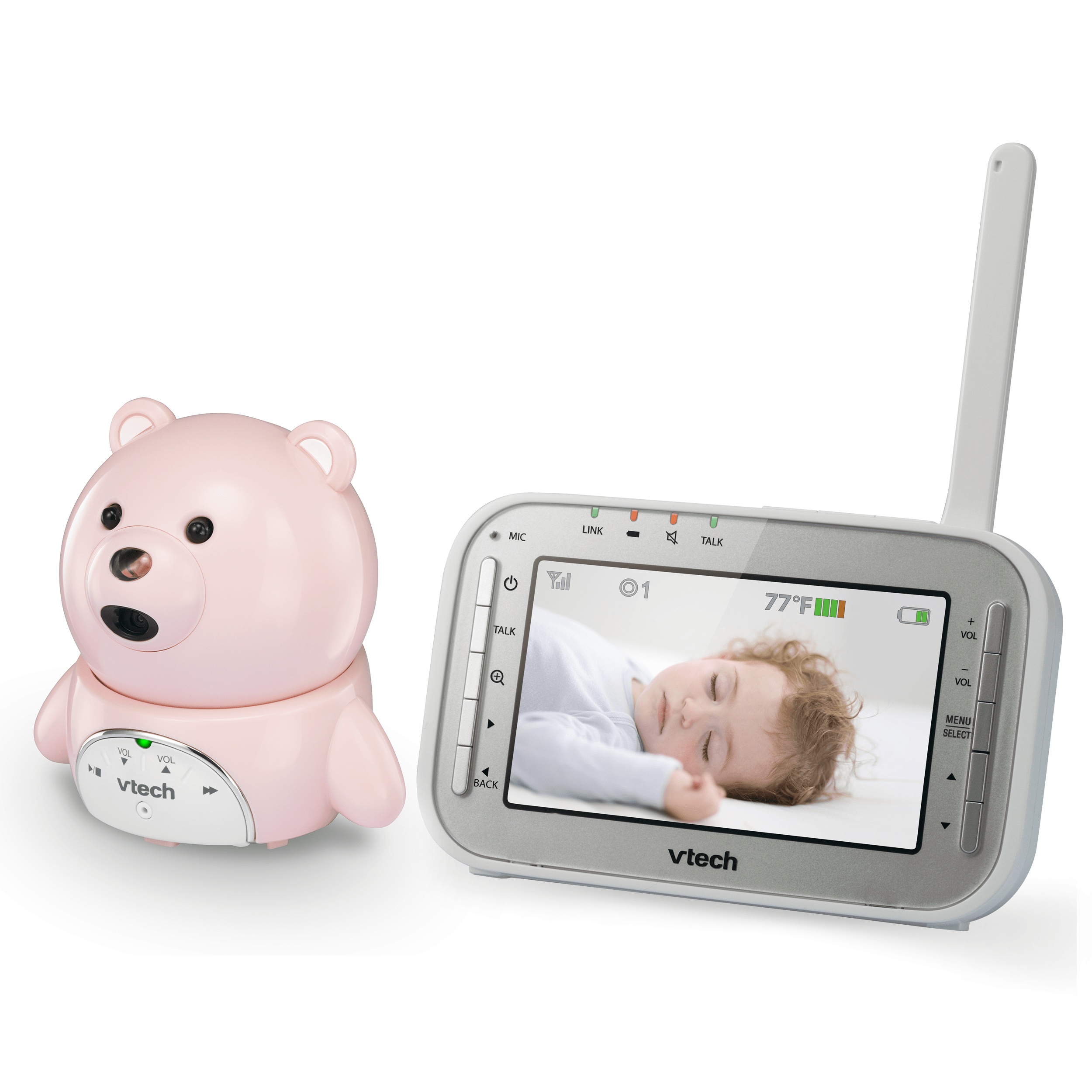 2 camera bear and owl expandable digital video baby monitor with automatic night vision vm346. Black Bedroom Furniture Sets. Home Design Ideas