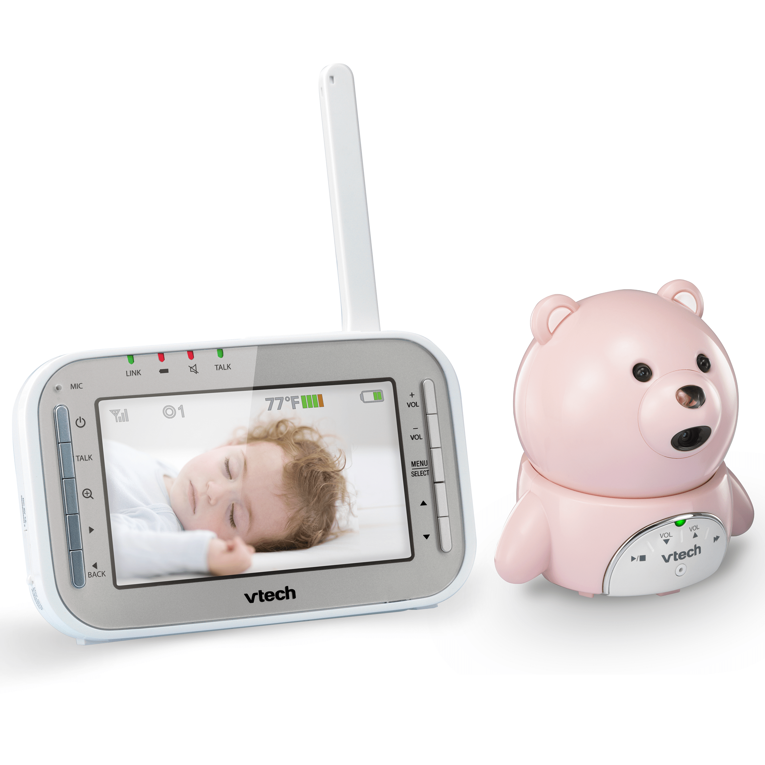 baby monitor bear expandable digital video baby monitor with automatic night vision vm346 19. Black Bedroom Furniture Sets. Home Design Ideas