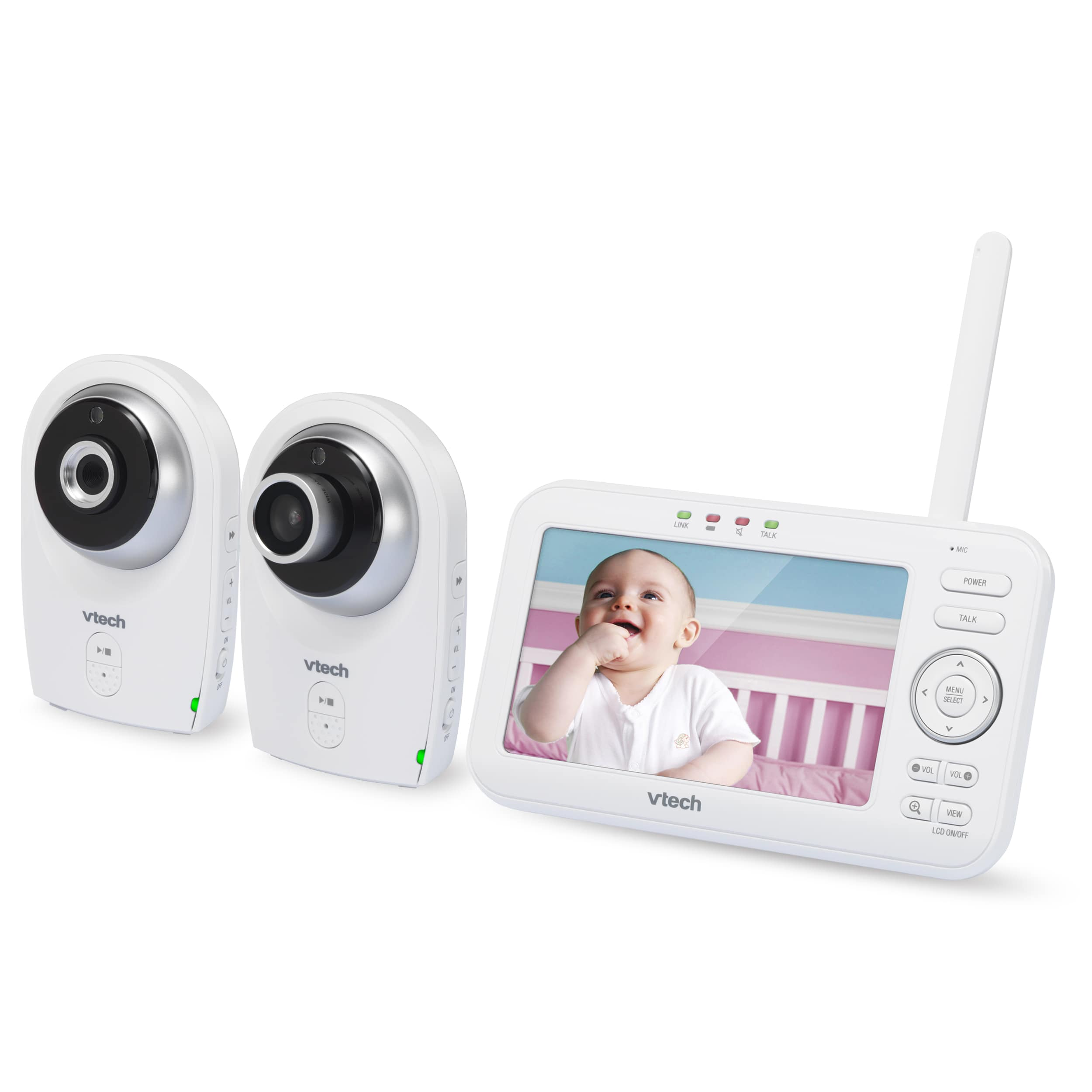 5 Quot Digital Video Baby Monitor With 2 Cameras Wide Angle