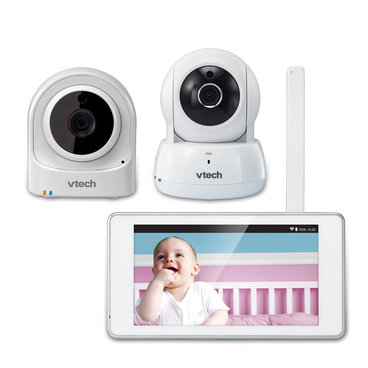 Expandable wireless hd video baby monitor with 2 wi fi camera and expandable wireless hd video baby monitor with 2 wi fi camera and 5 touch screen vm981 vm990 vtech cordless phones altavistaventures Image collections